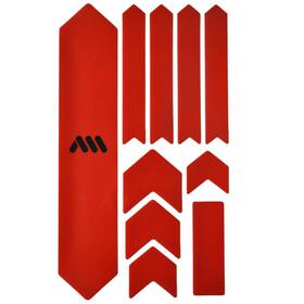 All Mountain Style Extra Kit di Protezione del Telaio 10 Pezzi, rosso